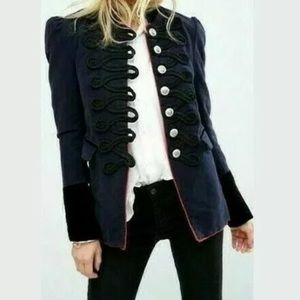 Free people Military style navy jacket